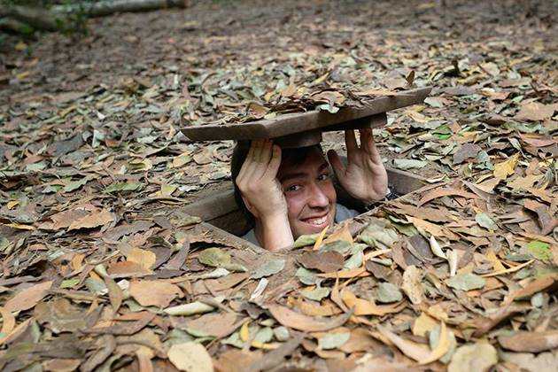 Discover the legendary tunnels of Cu Chi