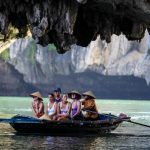 boat trip to explore luon cave in halong bay