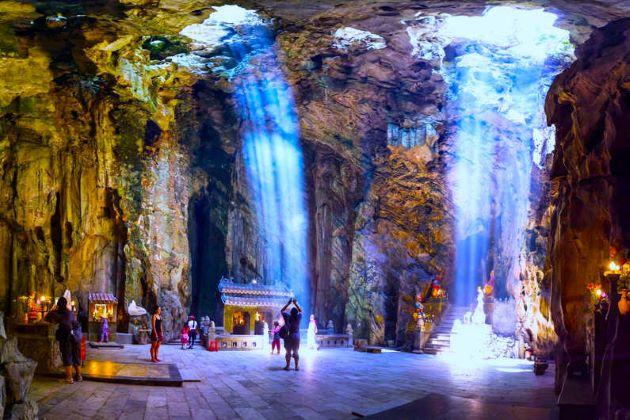 the stunning marble mountain in danang