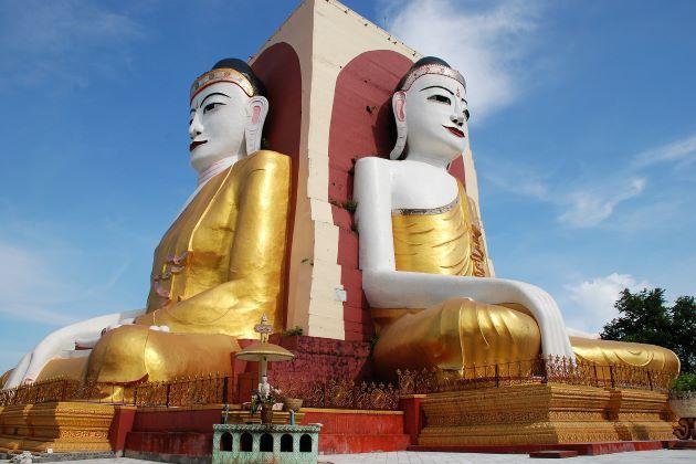 Kyaik Pun Pagoda in Bago Myanmar