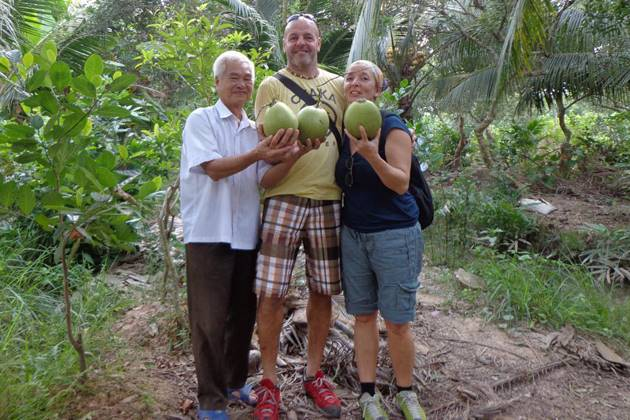 Visit tropical orchard garden in Mekong Delta