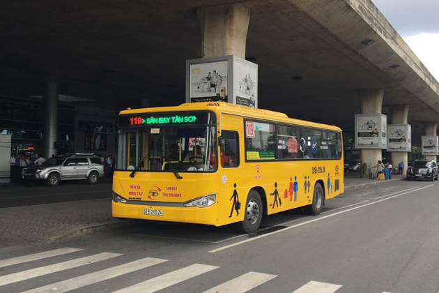 bus 119 mien dong station to tan son nhat international airport