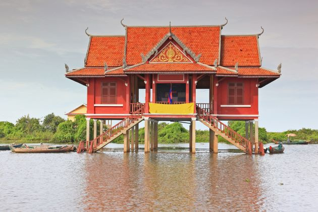a house on tonle sap lake cambodia