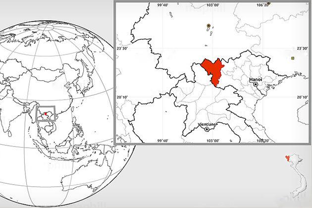 lai chau vietnam map