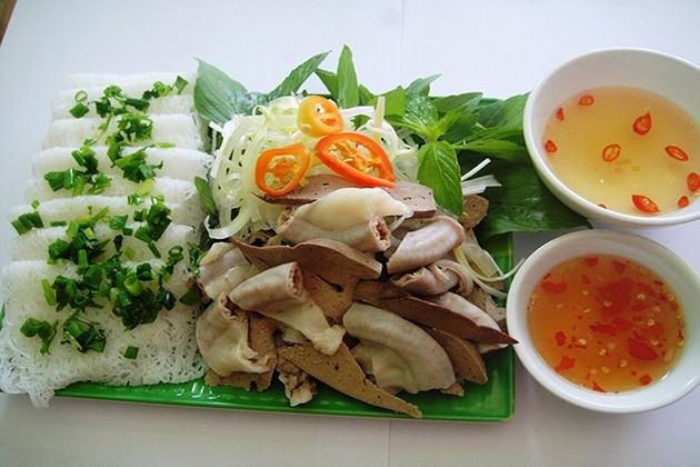 Fine Rice Vermicelli with Pig's Tripes cam ranh bay