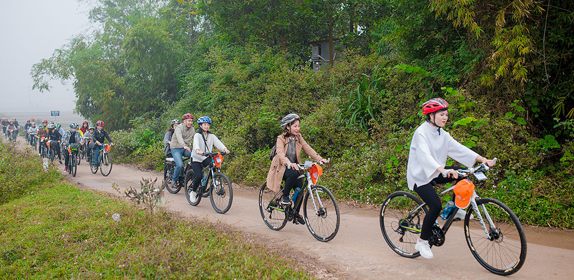 cycling in Viet Vision Travel 12 years anniversary