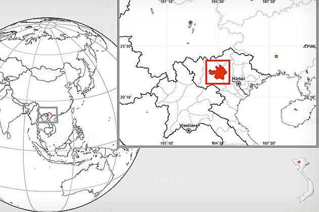 yen bai map