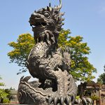 dragon statue at hue imperial city danang tours