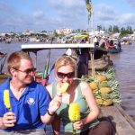 cai be floating market vietnam honeymoon trip
