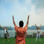 halong bay tai chi lesson for couple