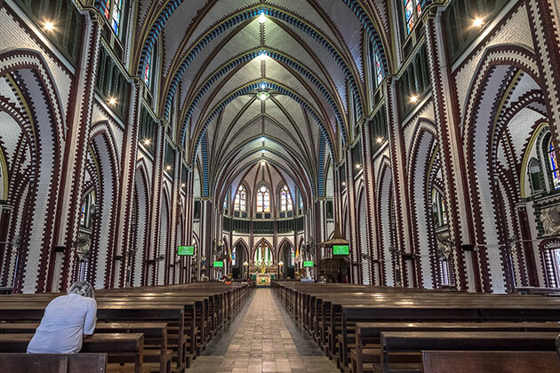 St Mary's Cathedral in yangon myanmar