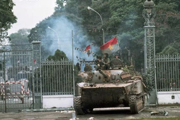The Reunification Front Gate crashed by a tank
