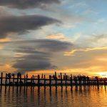 U Bein Bridge in the sunset