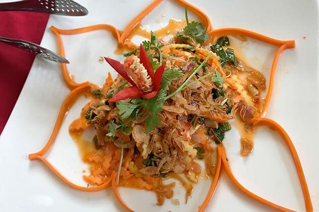 a dish served at Les Jardins De La Carambole