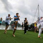 attend taichi lesson at halong bay