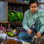 local women at Nyang U market