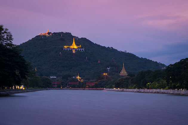 mandalay hill in the sunset
