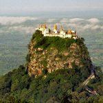 mount popa in myanmar