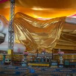 reclining buddha in Shwethalyaung Pagoda
