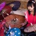 umbrella making village