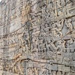 wall in bayon temple