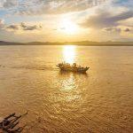 Ayeyarwaddy river in myanmar