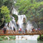 Khuang Si waterfall in luang prabang laos