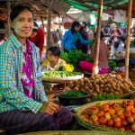Nyaung U Market in bagan myanmar