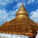Shwezigon Pagoda in bagan myanmar