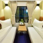 a cabin of night train from hanoi to hue