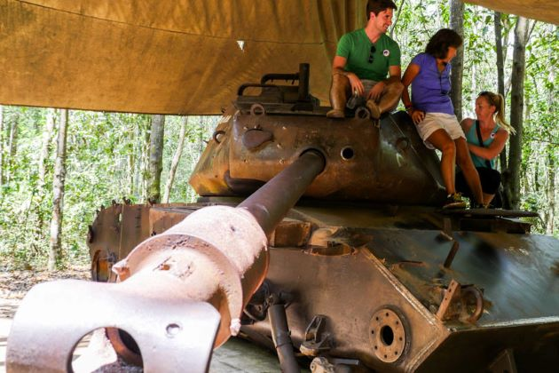 american tank at cu chi tunnels