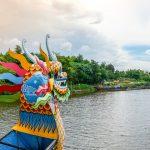 dragon boat trip at perfume river