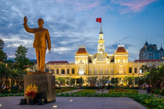 ho chi minh city hall indochina travel packages