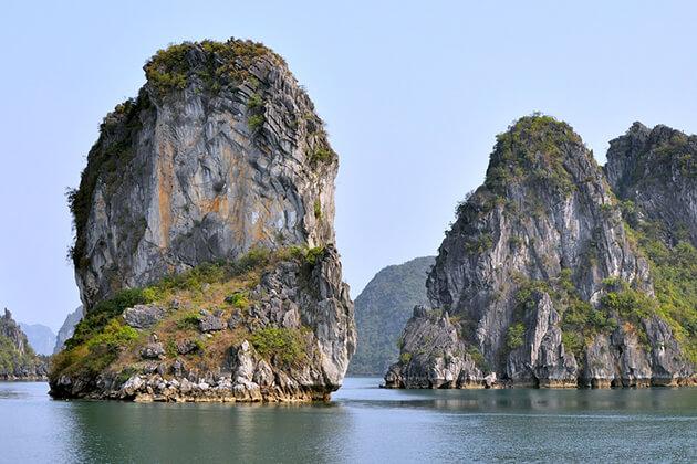 limestone mountain at halong bay
