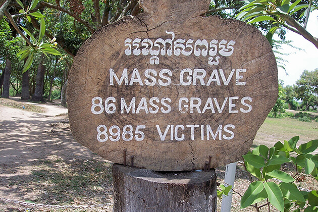 mass grave in killing field