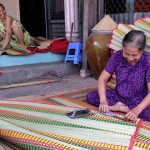 mat weaving village