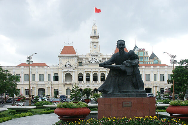president Ho Chi Minh statue
