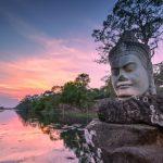 scuplture in angkor thom