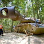 tank at cu chi tunnels saigon