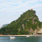 titov island at halong bay
