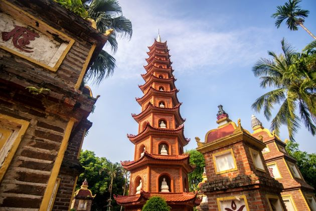 tran quoc pagoda is a must see attraction in hanoi during indochina trips