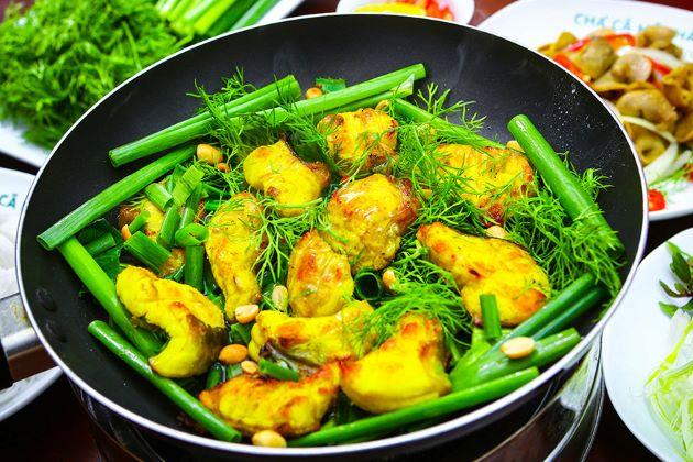Vietnamese turmeric fish with Dill