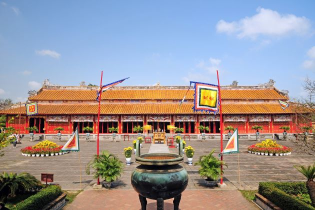 a palace in hue imperial citadel for classic tours in vietnam