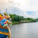 dragon boat trip in perfume river in Hue