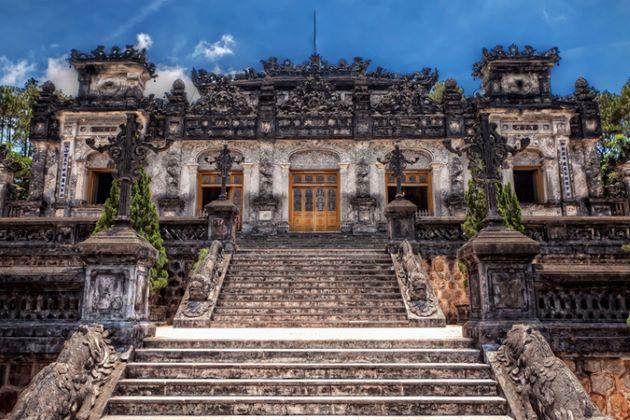 khai dinh royal tomb in hue