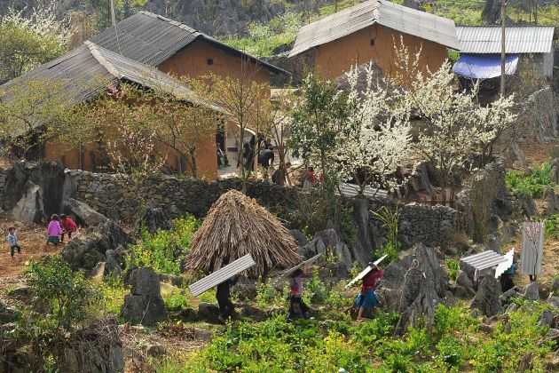 local village in dong karst plateau
