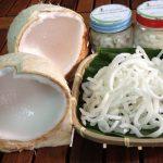 making coconut jams in mekong delta