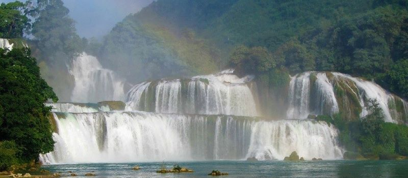 visit ban gioc waterfall in north east vietnam tours