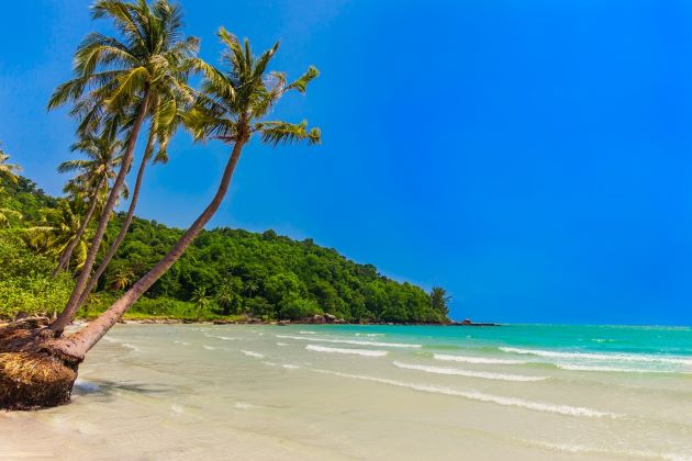 relax on the beach of Phu Quoc island during vietnam classic vacation