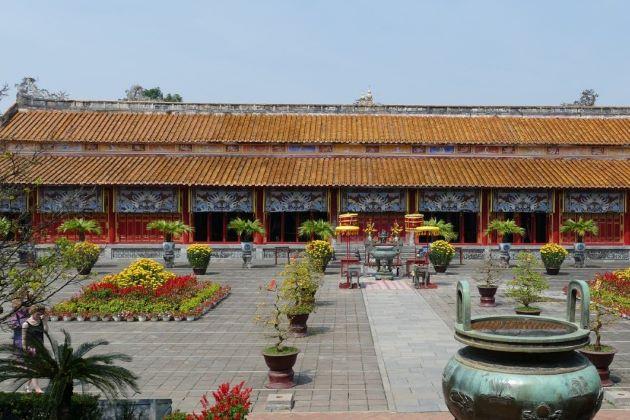 royal palace in hue imperial citadel